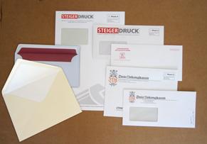 Verschiedene Briefhüllen